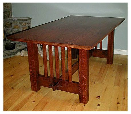 Craftsman Mission Style Mission Style Decorating Dinning Table