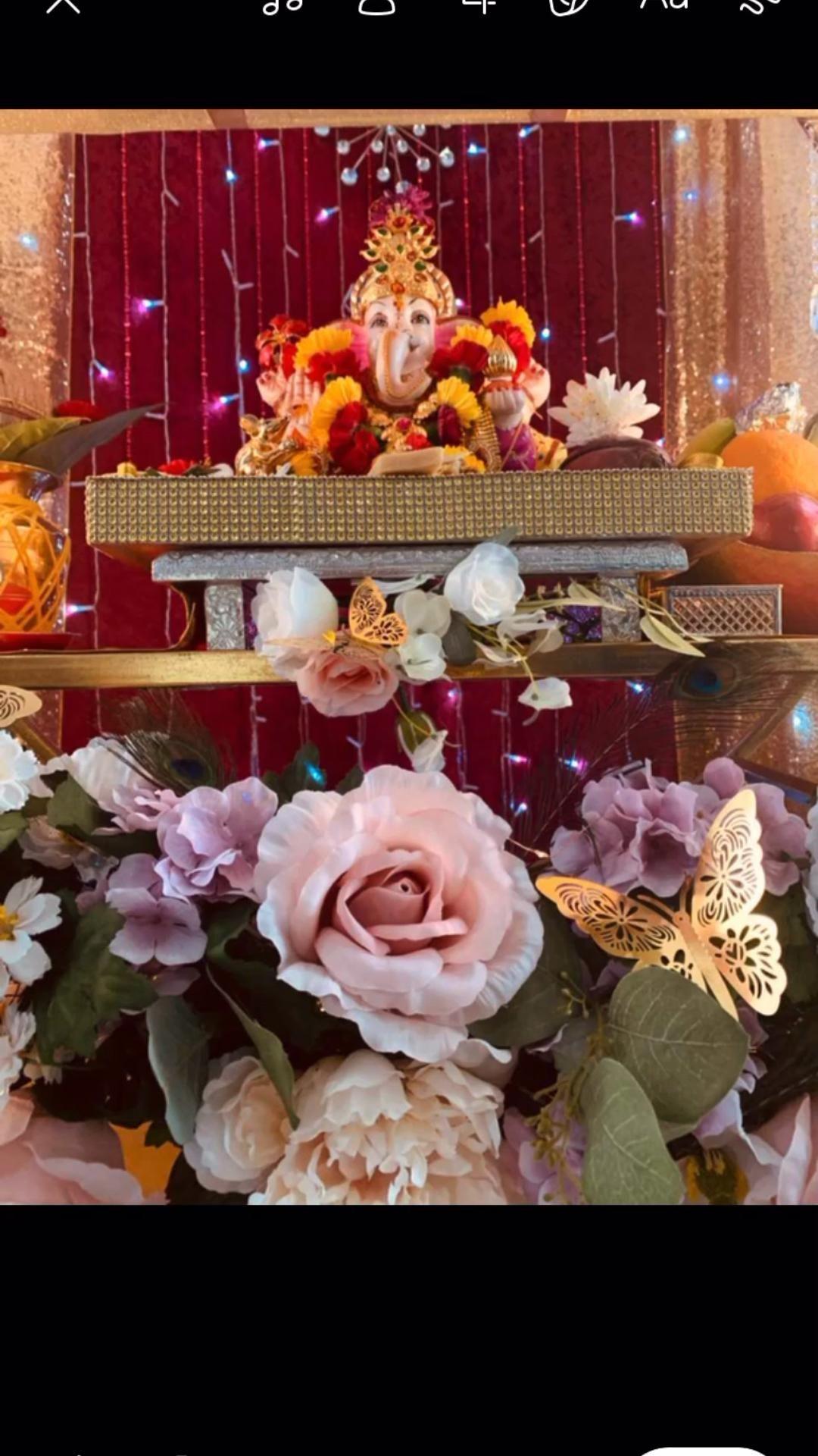 🌺🙏🏻Ganpati Bappa Morya 🙏🏻🌺2021(homemade decorations)