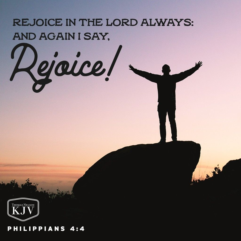KJV Verse of the Day: Philippians 4:4 | Palabras sabias | Pinterest ...