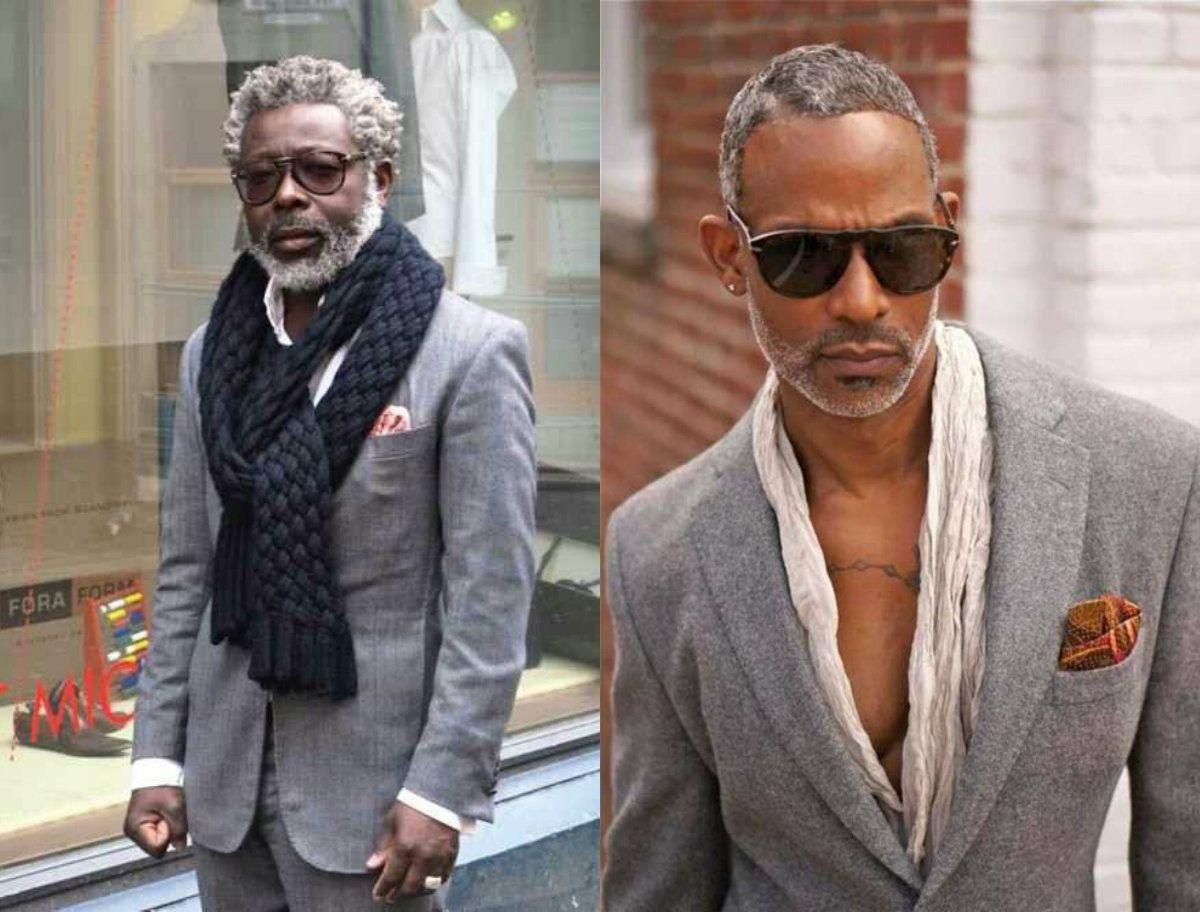 black men grey hair | Grey hair beauty | Pinterest | Gray ...