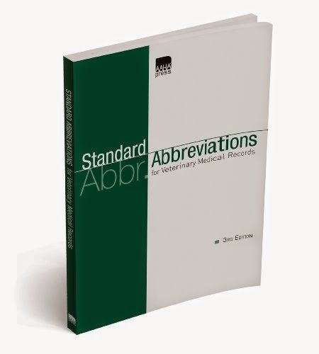 Standard Abbreviations for Veterinary Medical Records Pdf
