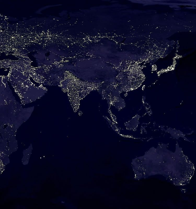 Night Satellite Photos Earth US Europe World Geologycom - Us at night map