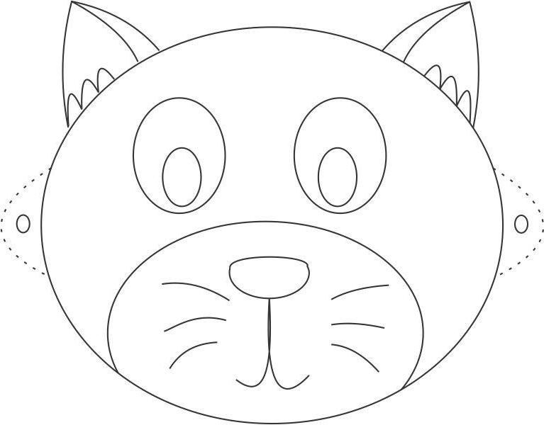 Coloriage masque chat sur hugolescargot com - Chat coloriage masque ...