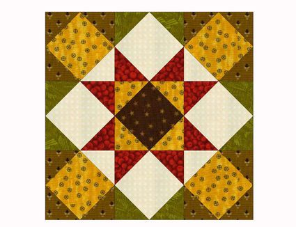 Learn How Easy It Is To Make 12 Ohio Star Quilt Blocks Star Quilt