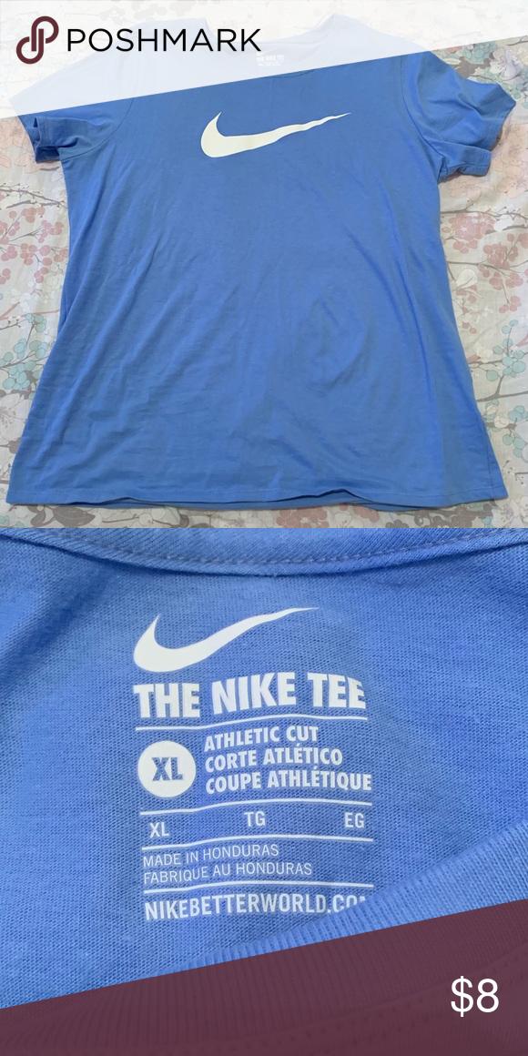 Baby Blue Nike T Shirt Blue Nike Nike Tshirt White Nikes