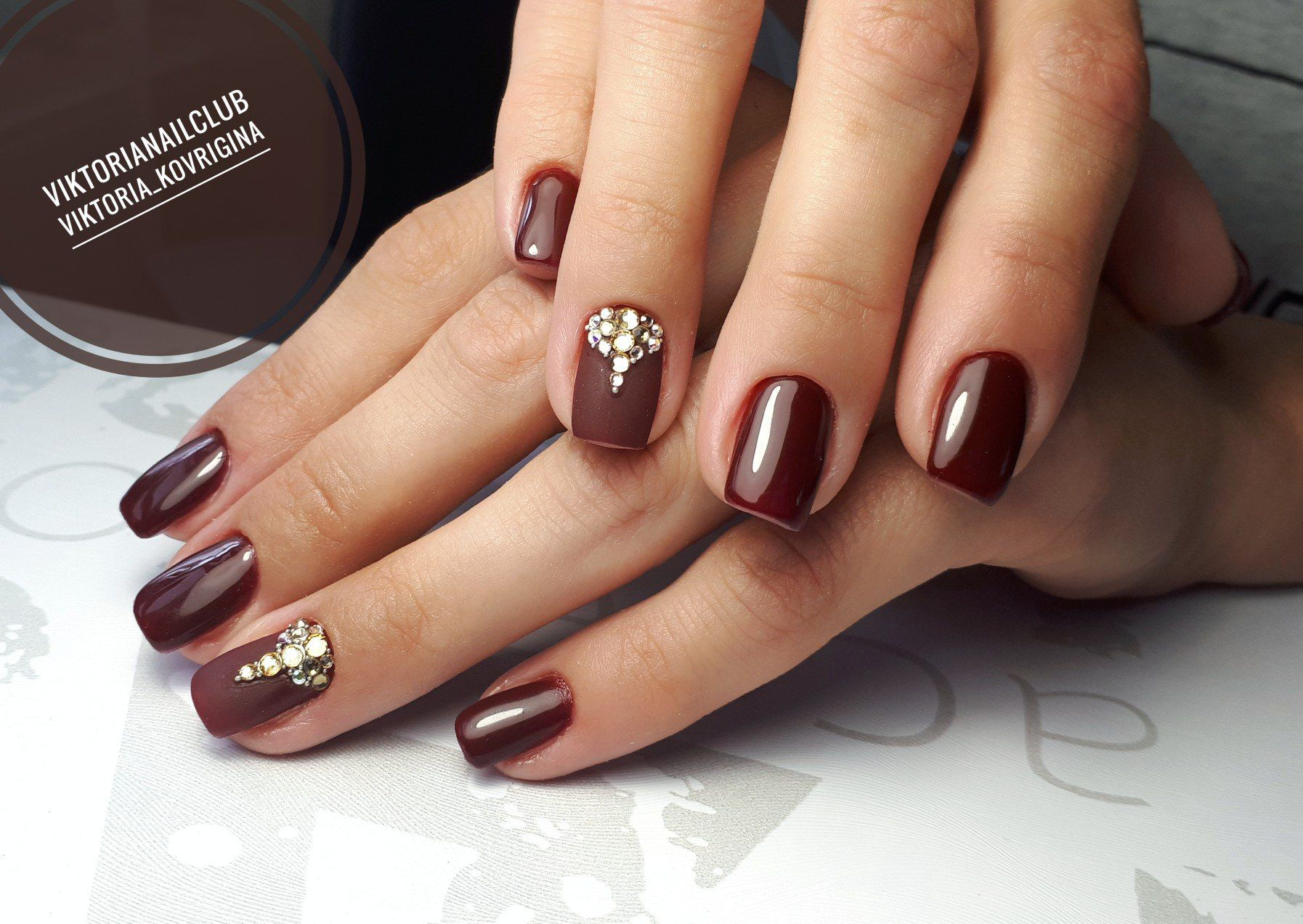 Nail Art #3713 - Best Nail Art Designs Gallery | Maroon nails ...