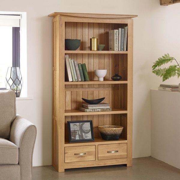 Natural Solid Oak Bookcases