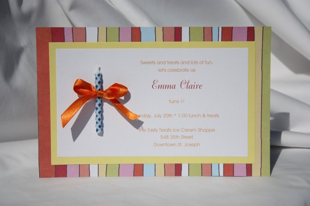 cute hand made scrapbook paper invitation Birthday Party Ideas - birthday invitation homemade