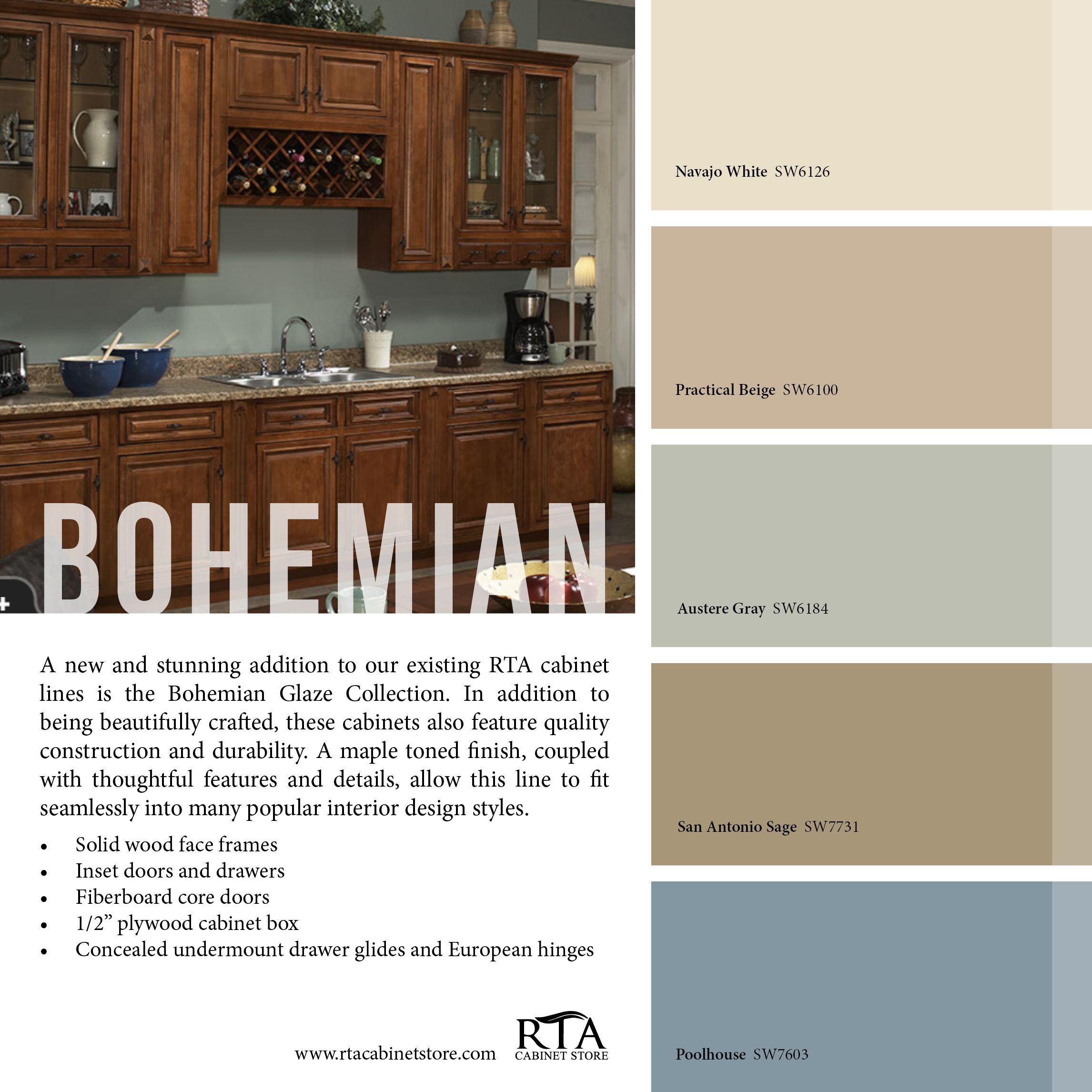 Color Palette To Go With Our Bohemian Glaze Kitchen Cabinets. BEAUTIFUL DMW