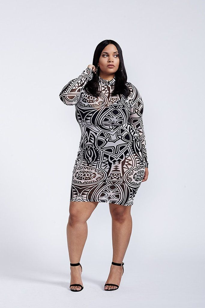plus size long sleeve mesh dress | my best dresses | pinterest