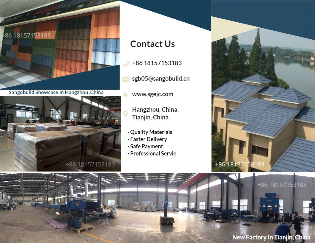 Stone Coated Roof Tiles Factory In Tianjin Now Your Order Will Be Done Within Sonic Time Contact Us To Sheet Metal Roofing Steel Roofing Metal Roof Tiles