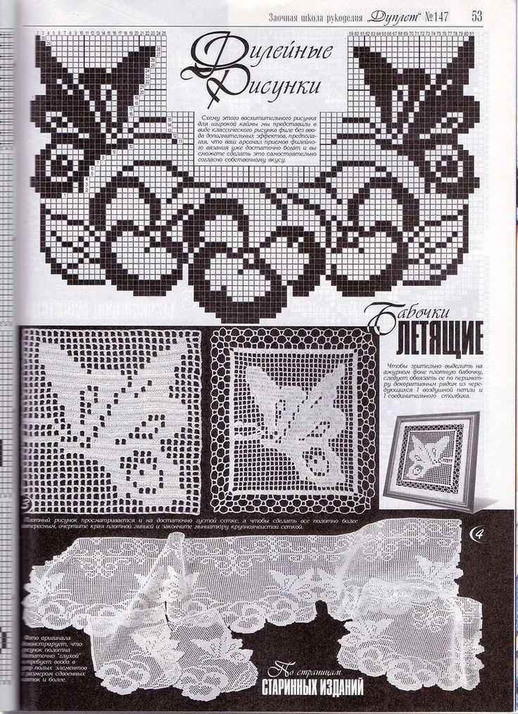 Häkeln Schmetterling crochet butterfly | kanaviçe örnekleri ...