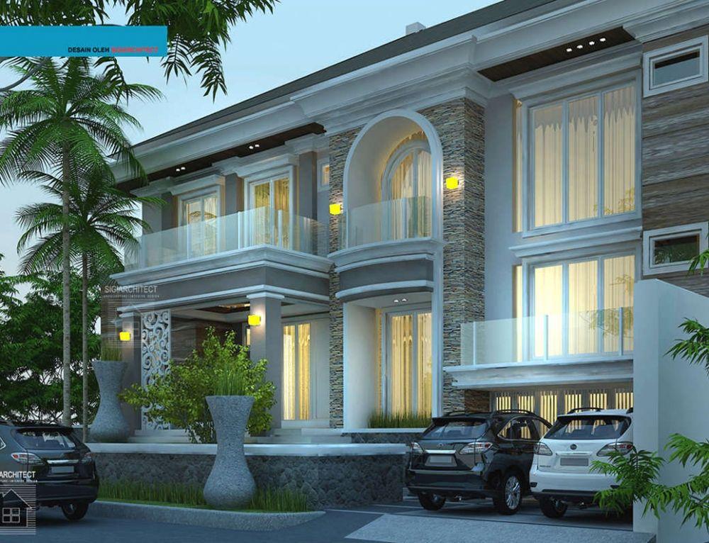 Model Rumah 2 Lantai Tropis Minimalis Jasa Arsitek Rumah Modern Rumah Mewah Desain Rumah Rumah Modern