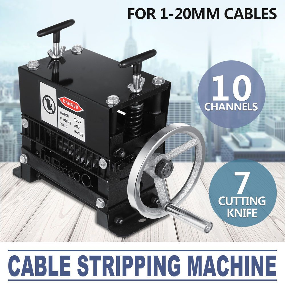 Manual Electric Wire Stripping Machine 1 20mm Copper Metal Cable 10 Electrical Wiring Channels Ebay Link