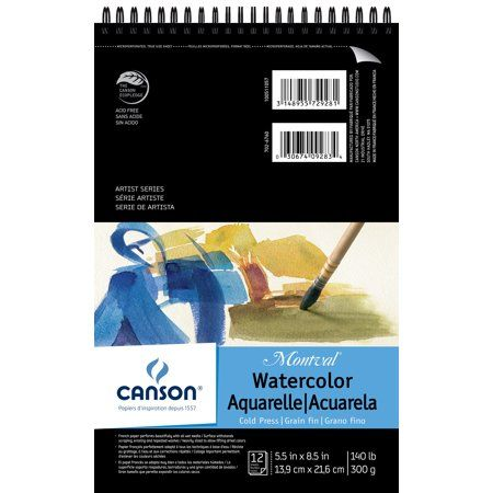 Canson Montval Spiral Watercolor Pad 5 5 Inchx8 5 Inch 12 Sheets