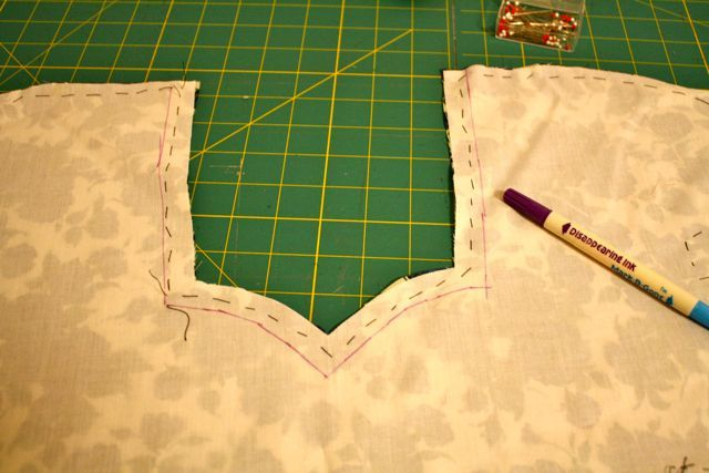 Three Ways to Stabilize a Neckline  1: Stay Stitching  2: Bias Strips of Fusible Interfacing  3: Silk Organza Strips on the Straight Grain