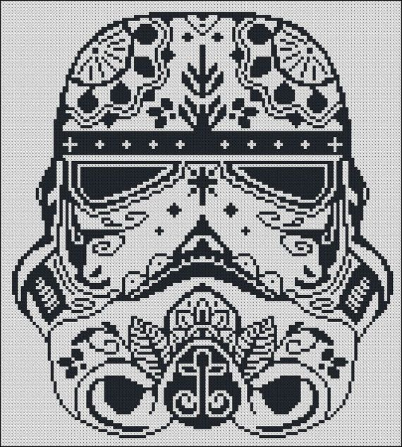 Bogo free stormtrooper star wars cross stitch pattern sugar skull storm trooper star wars cross stitch pattern stormtrooper needlecraft sugar skull embroidery dt1010fo