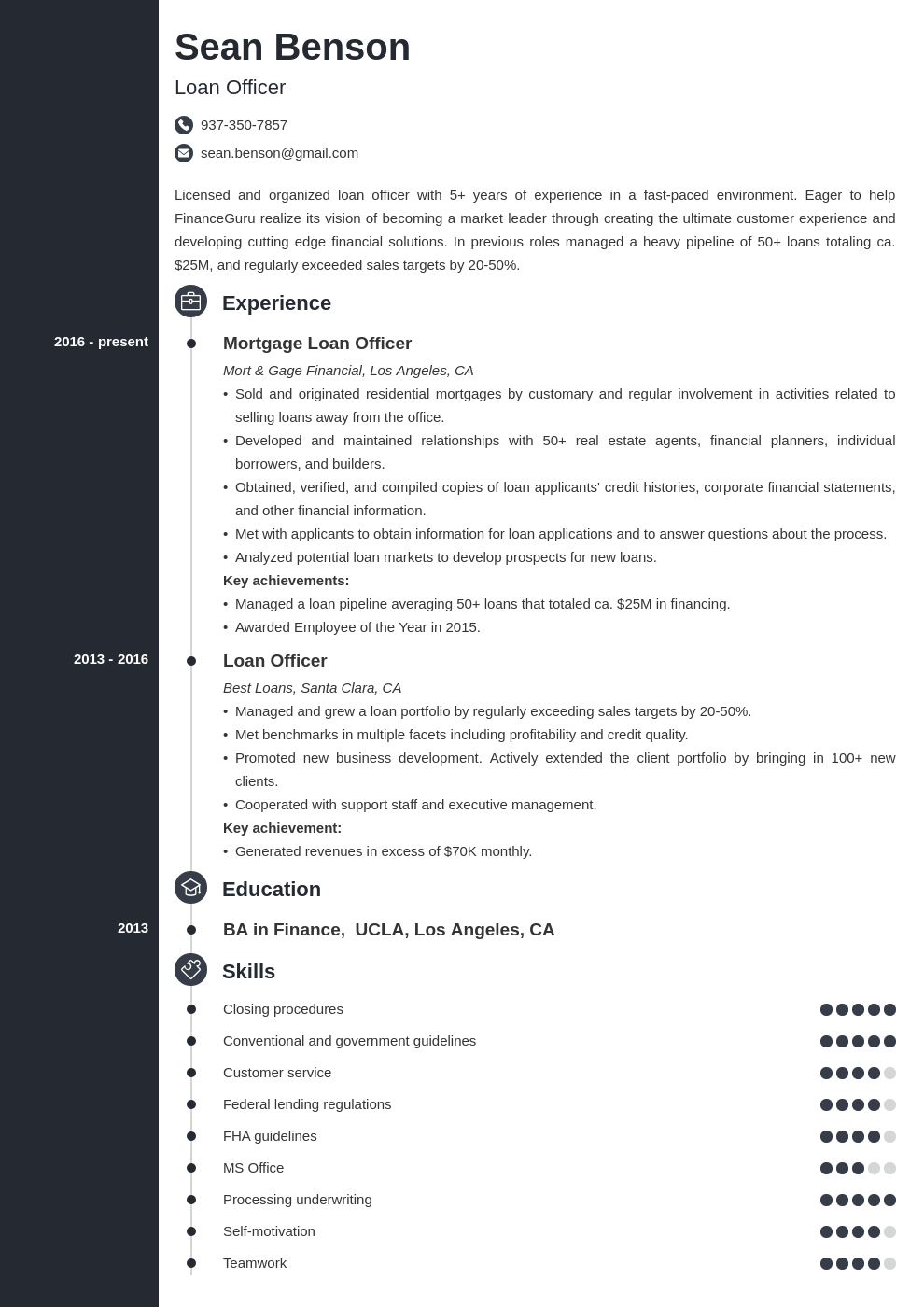 loan officer resume example template concept Teacher