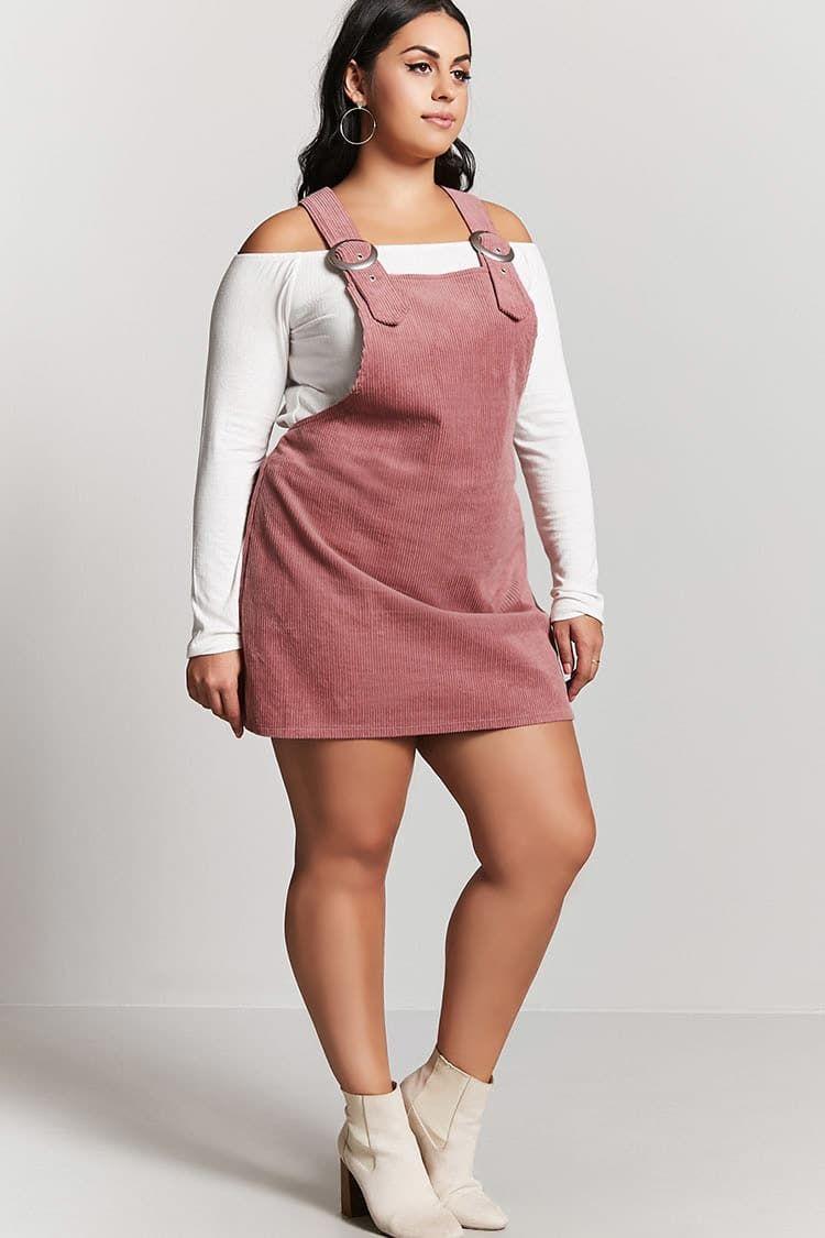 e0b5687e7d5 Product Name Plus Size Corduroy Overall Dress