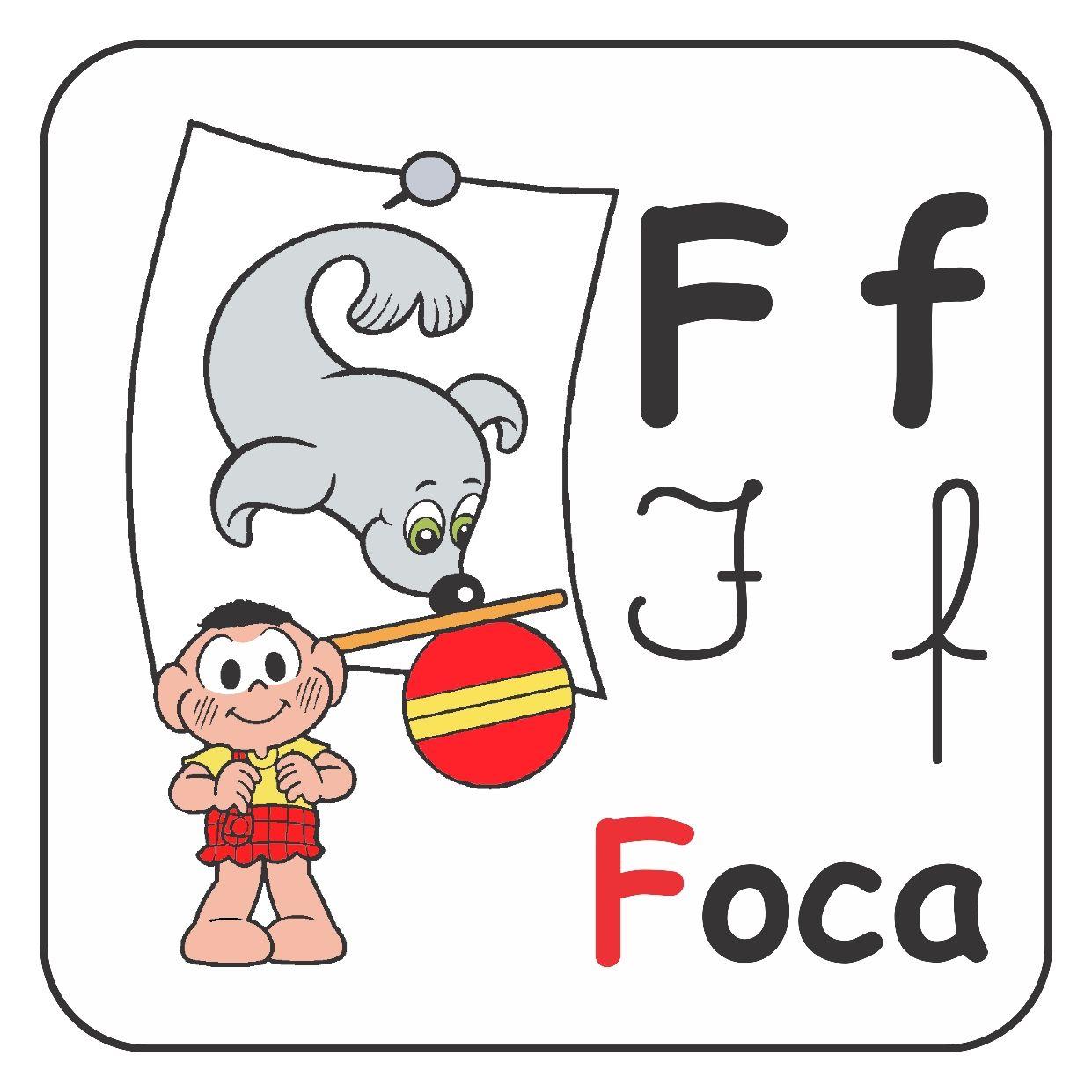 Alfabeto 4 Tipos De Letras Com Imagens Turma Da Monica