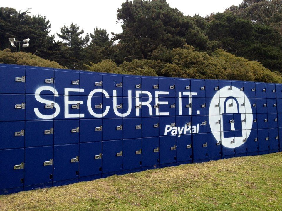 PayPal lockers at Outside Lands Music Festival — at Outside Lands Music Festival, Golden Gate Park, S.F.