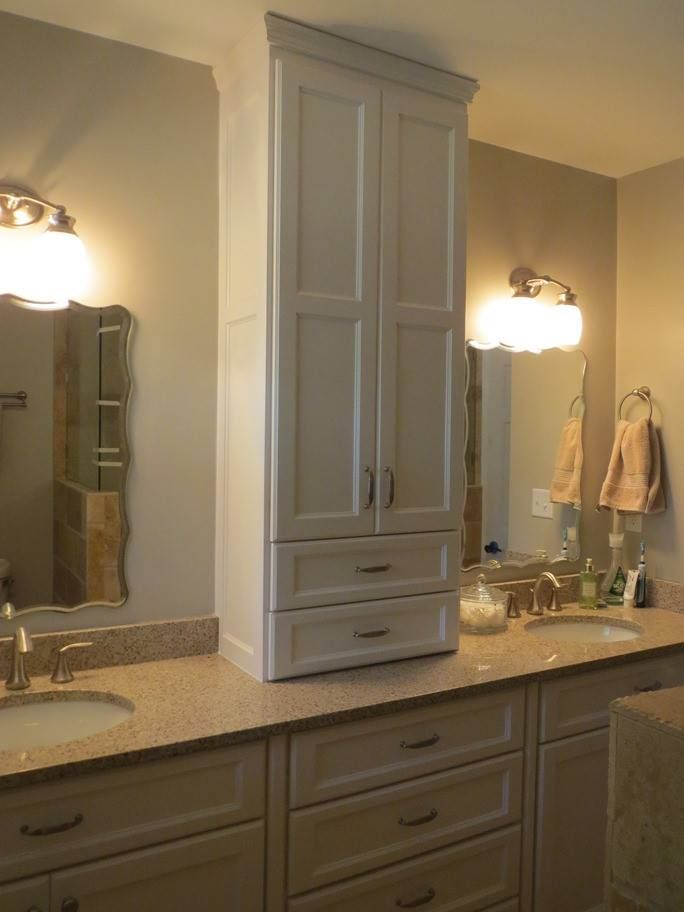 Custom Master Bathrooms custom master bath - tower cabinet - borders woodworks | master