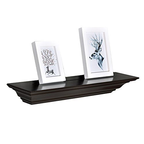 Welland 24 Inch X 3 25 Inch X 5 25 Inch Corona Crown Molding Wall Shelf Espresso Diy Wood Shelves Wood Shelves Wood Diy