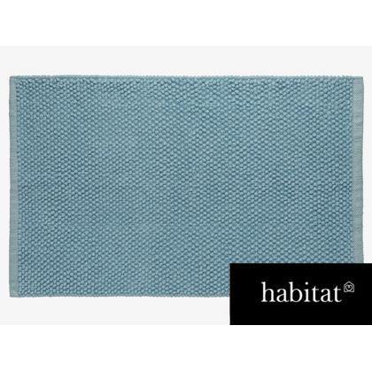 Habitat Bobble Bathmat - Blue
