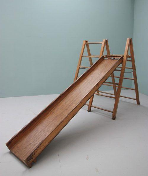 1950u0027s Childs Indoor Climbing Frame U0026 Slide