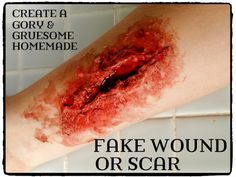 A Homemade Halloween Costume Recipe for Fake Wounds, Scars, Made With Glue and Ingredients You Already Have