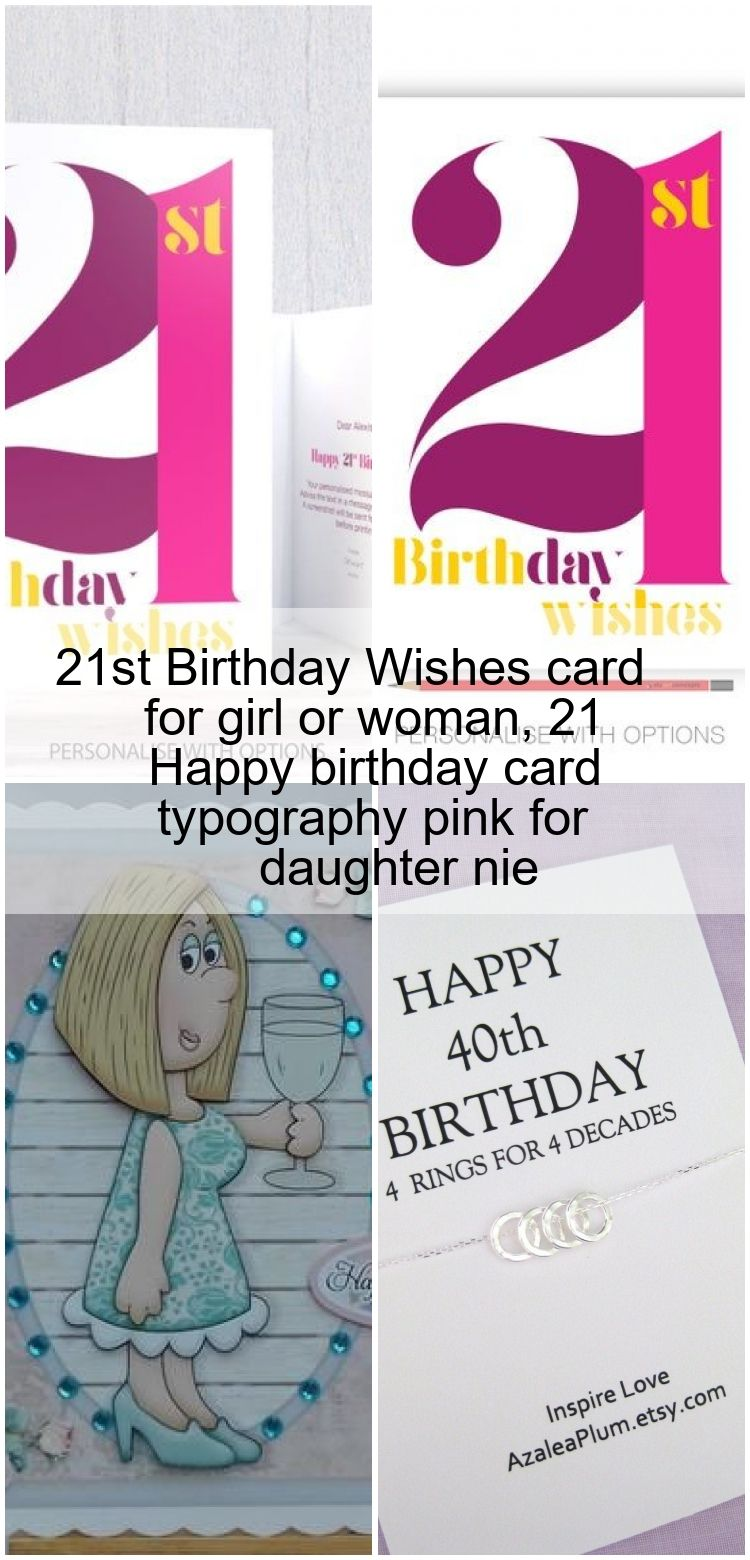 21st birthday wishes card for girl or woman 21 happy