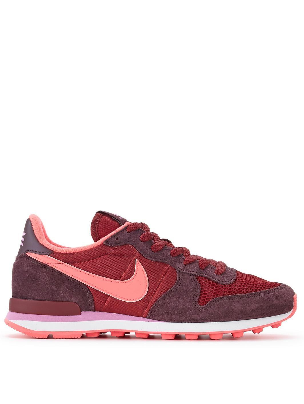Nike Internationalist Trainers - Womens Trainers - COLOUR-burgundy/orange