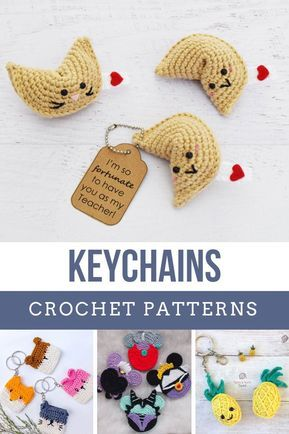 Crochet Keychain Ideas {that make quick and easy handmade gifts!} #crochetpatterns