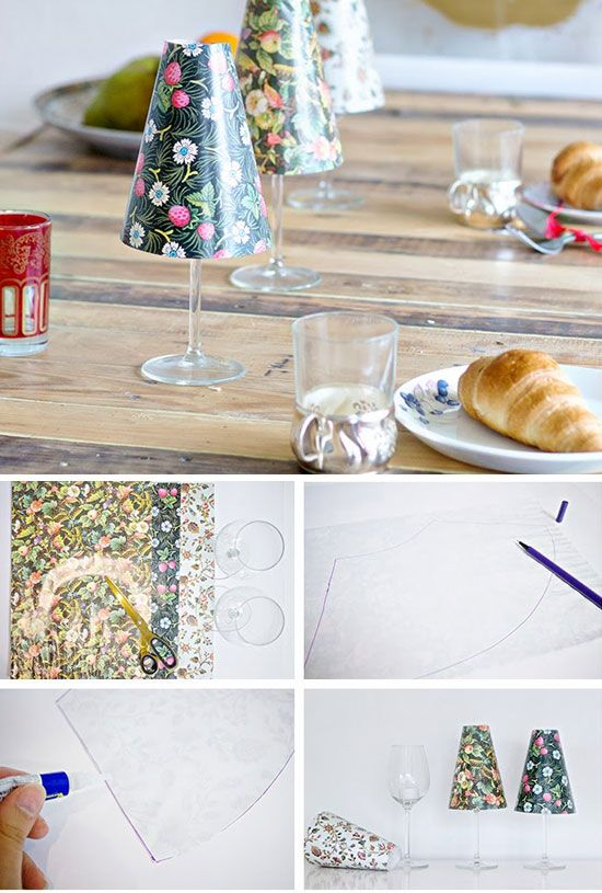 22 Brilliant DIY Glass Craft Ideas | Glass craft, Wine glass candle ...