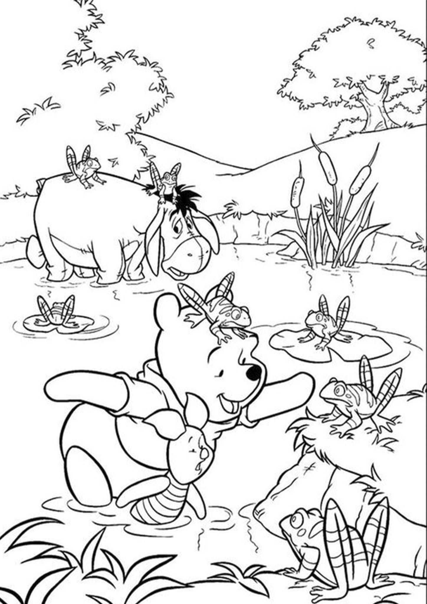 Free Easy To Print Winnie The Pooh Coloring Pages Cartoon Coloring Pages Disney Coloring Pages Winnie The Pooh Pictures