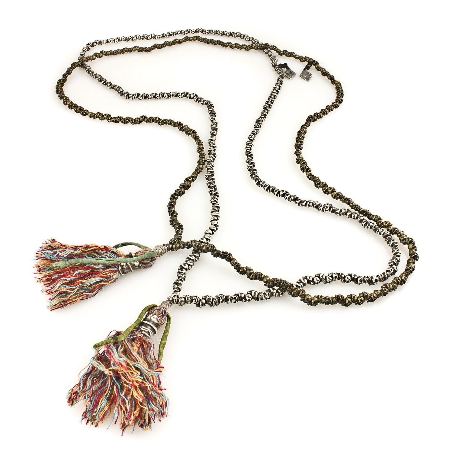 Stacked Skulls Tassel Necklace | M. Cohen Designs