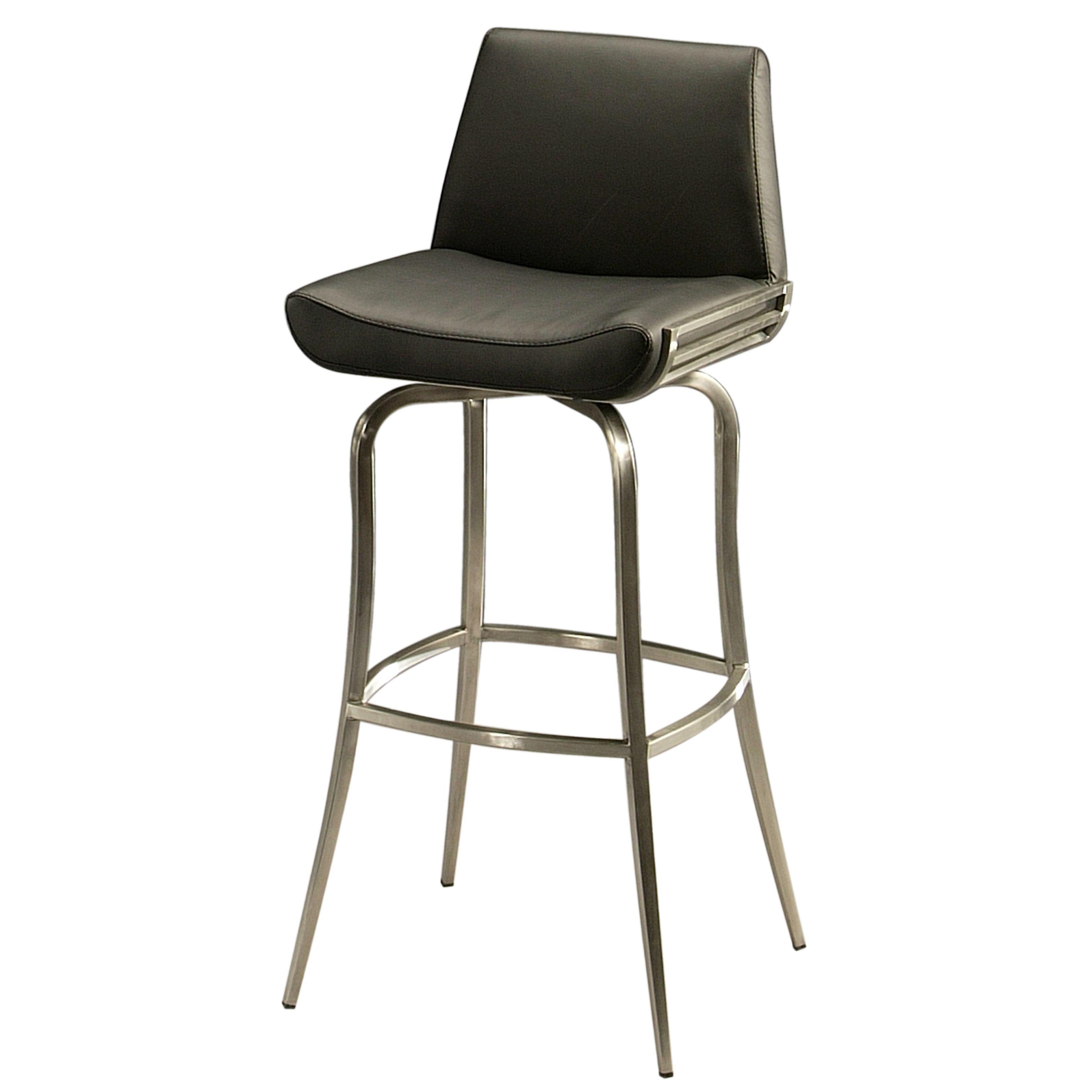 Marvelous Degorah Silver Black Stainless Steel Faux Leather Swivel Beatyapartments Chair Design Images Beatyapartmentscom