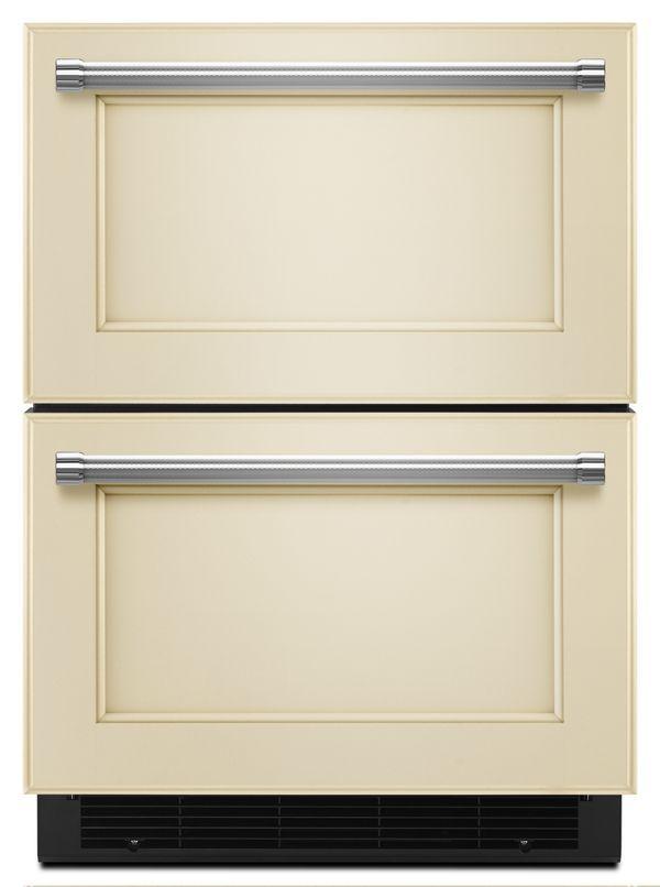 Panel Ready Pa 24 Panel Ready Refrigerator Freezer Drawer Kudf204epa Kitchenaid Refrigerator Drawers Refrigerator Panels Panel Ready Refrigerator