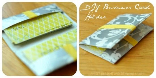 13 diy business card holders patterns templates tip junkie a day with lil mama stuart diy business card holder duct tape project super easy to make reheart Images
