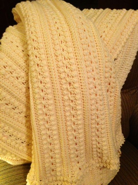 Aran Isle Throw. Free pattern I just completed for my hubby ...