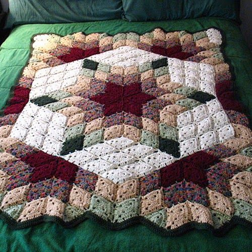 Free Pattern Red Heart Crochet Prairie Star Blanket