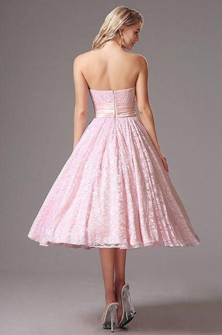 e6c616a82ad0 Romantické ružové vintage šaty S01388