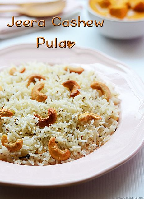 jeera-cashew pulao with Paneer butter masala