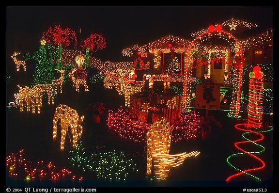 House Christmas Lights San Jose California Usa Color Christmas House Lights Outdoor Christmas Lights Christmas Lights