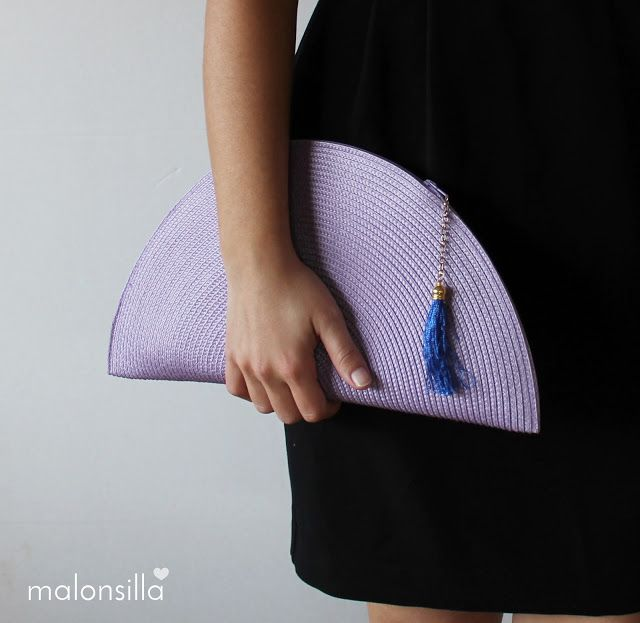 Bolso abanico by malonsilla color malva