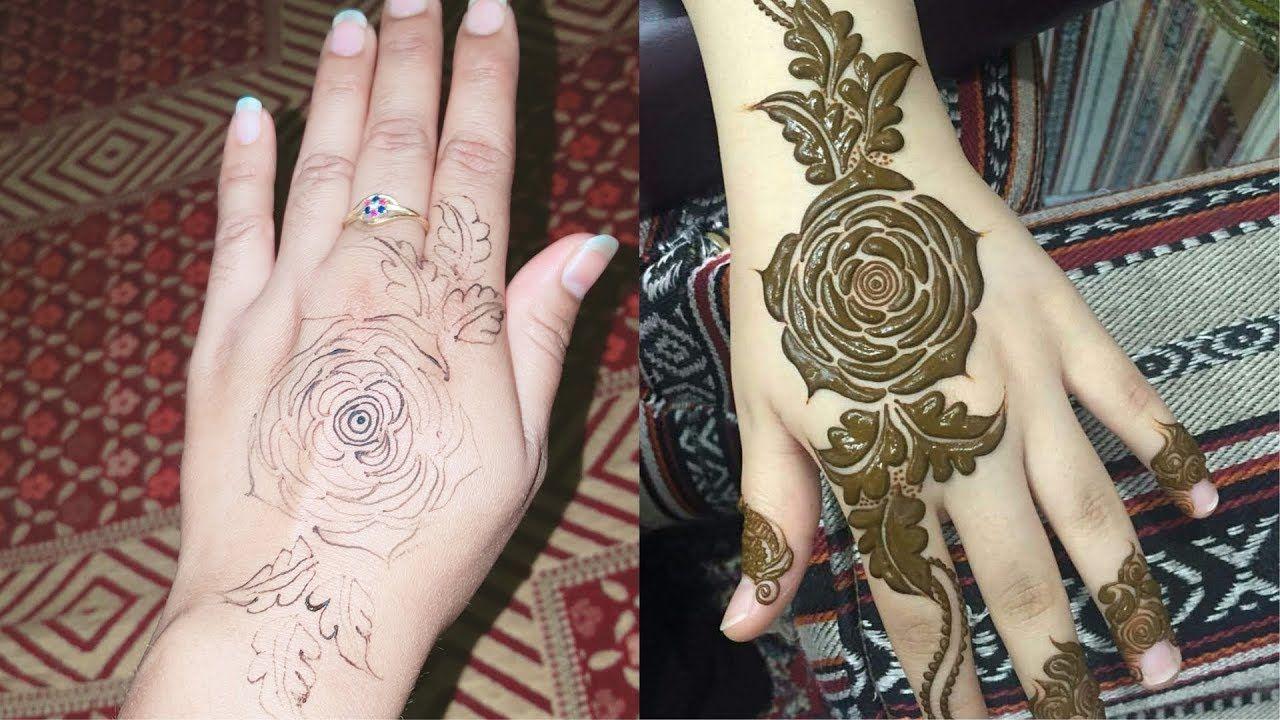Dubai Gulf Rose Super Easy Mehndi Design Gulf Mehndi Design 2018
