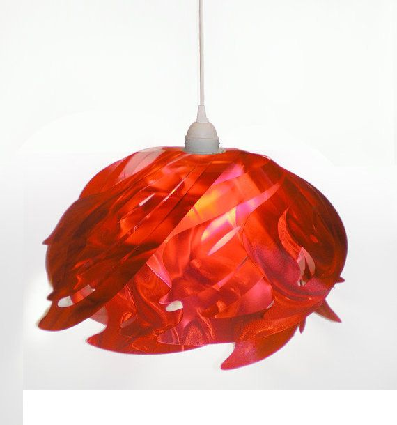 Ali hand-cut hanging pendant lamp in red, now only $25! Also available in blue, white and black.