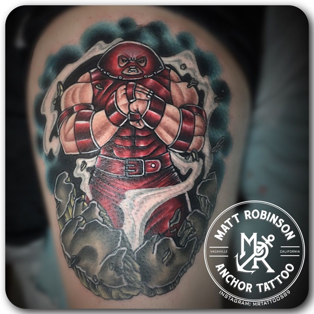 Juggernaut XMen Tattoo by Matt Robinson of Anchor Tattoo