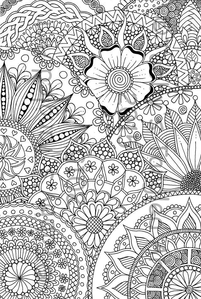 190 Mandalas para Colorear para niños | Dibuixos per pintar ...