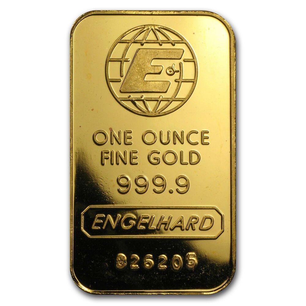 1 Oz Gold Bar Engelhard E Logo Sku 77910 Gold Bullion Coins Gold Bars For Sale Gold Money